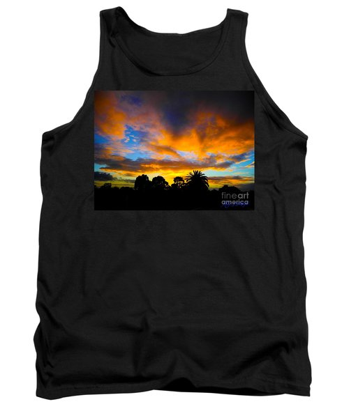Tank Top featuring the photograph Dramatic Sunset by Mark Blauhoefer