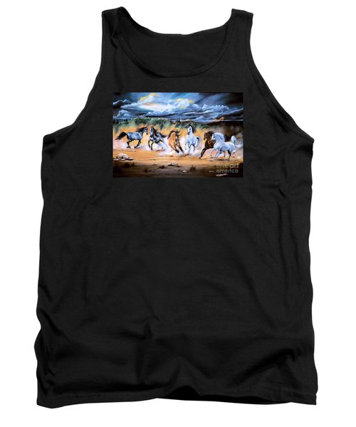 Dream Horse Series 125 - Flat Bottom River Wild Horse Herd Tank Top
