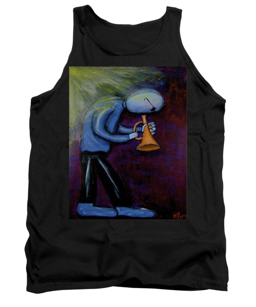 Tank Top featuring the painting Dreamers 99-001 by Mario Perron