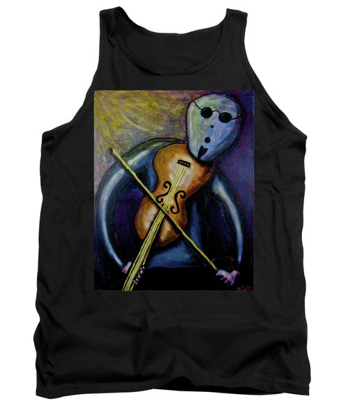 Tank Top featuring the painting Dreamers 99-002 by Mario Perron
