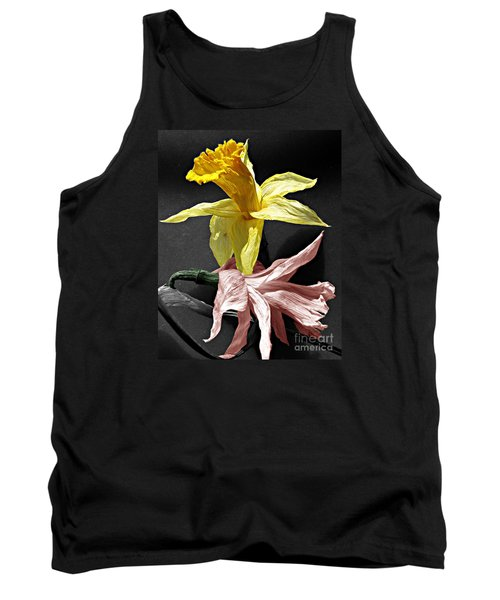 Tank Top featuring the photograph Dried Daffodils by Nina Silver