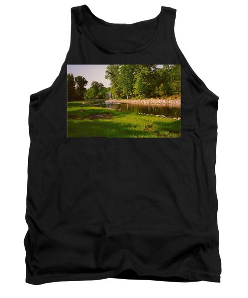 Duck Pond With Water Fountain Tank Top by Amazing Photographs AKA Christian Wilson