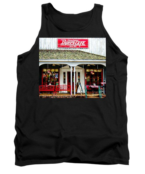 Dyer's Cafe Memphis  Tank Top by Barbara Chichester