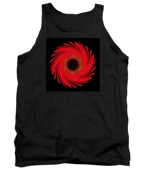 Tank Top featuring the photograph Dying Amaryllis Flower Mandala by David J Bookbinder