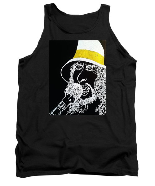Tank Top featuring the drawing Dylan In Concert by Rand Swift