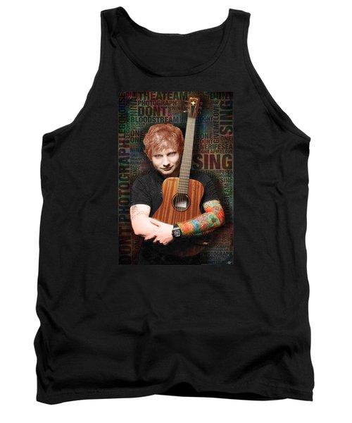 Ed Sheeran And Song Titles Tank Top by Tony Rubino