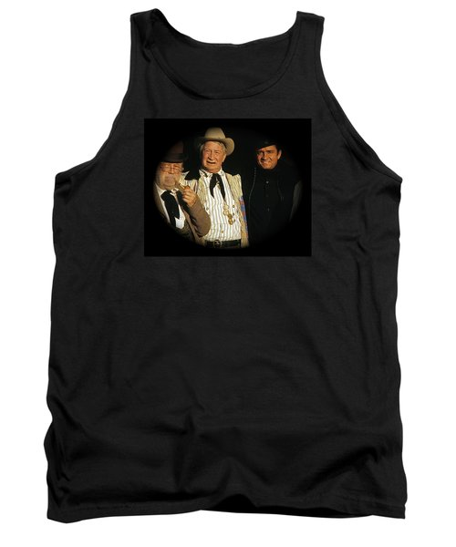 Tank Top featuring the photograph Edgar Buchanan Chills Wills  Johnny Cash Porch Old Tucson Arizona 1971-2008 by David Lee Guss