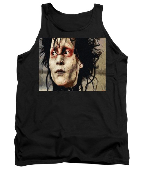 Edward Scissorhands  Tank Top by Joe Misrasi