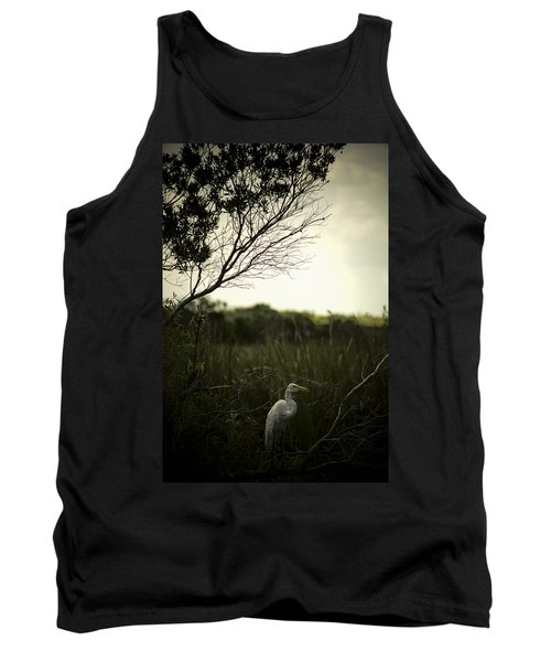 Egret At Sunset Tank Top
