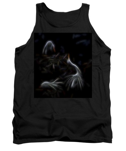 Tank Top featuring the digital art Egret Rookery 1 by William Horden