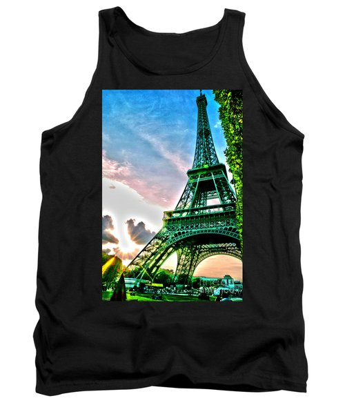 Eiffel Tower 8 Tank Top by Micah May