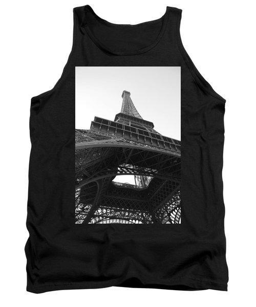 Eiffel Tower B/w Tank Top by Jennifer Ancker