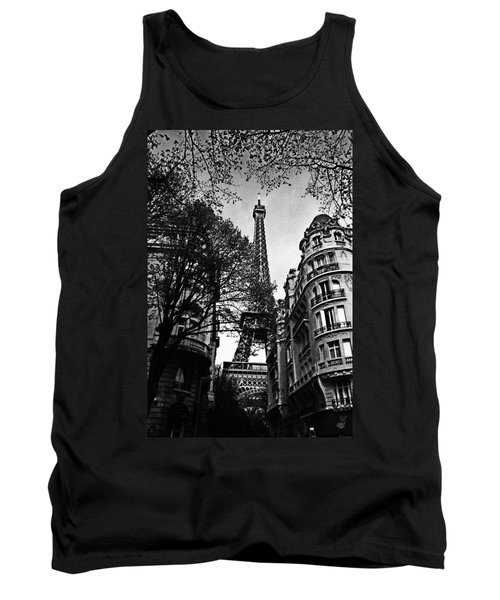 Eiffel Tower Black And White Tank Top