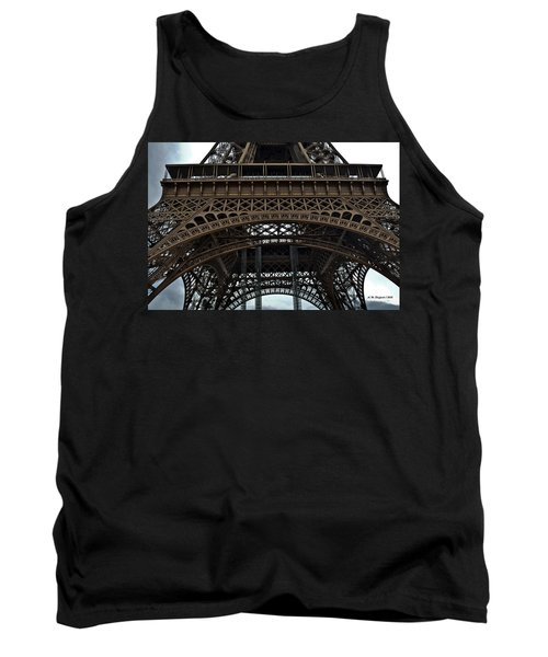 Tank Top featuring the photograph Eiffel Tower - The Forgotten Names by Allen Sheffield