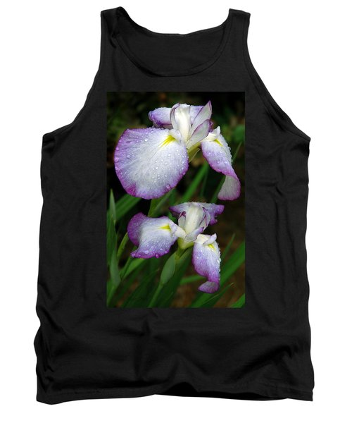 Tank Top featuring the photograph Elegant Purple Iris by Marie Hicks