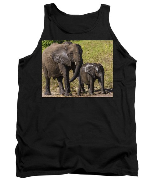 Elephant Mom And Baby Tank Top
