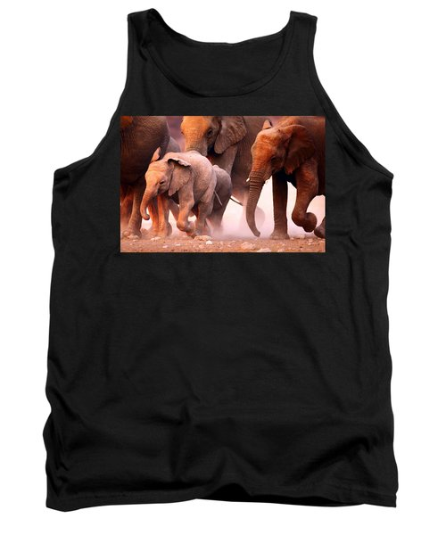 Elephants Stampede Tank Top