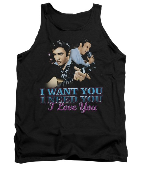 Elvis - I Want You Tank Top by Brand A