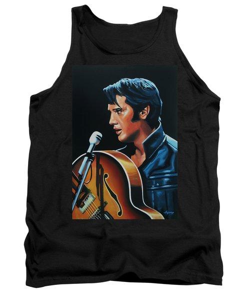 Elvis Presley 3 Painting Tank Top by Paul Meijering