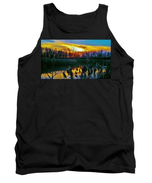 Tank Top featuring the photograph Emagin Sunset by Daniel Thompson