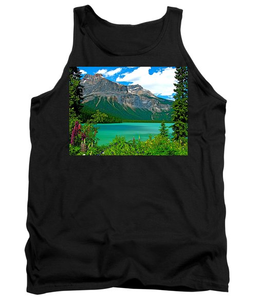 Emerald Lake In Yoho Np-bc Tank Top by Ruth Hager