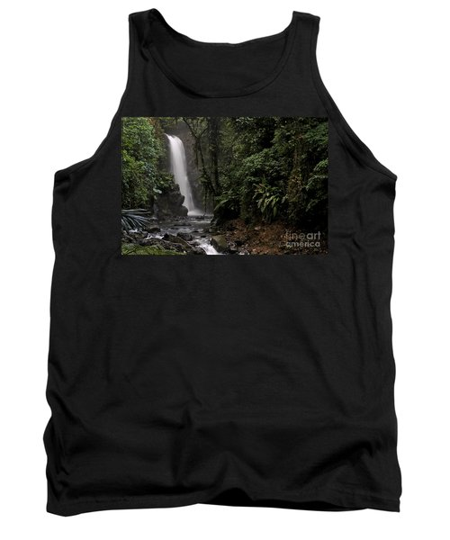 Encantada Waterfall Costa Rica Tank Top by Teresa Zieba
