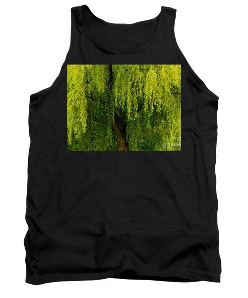 Enchanting Weeping Willow Tree  Tank Top by Carol F Austin