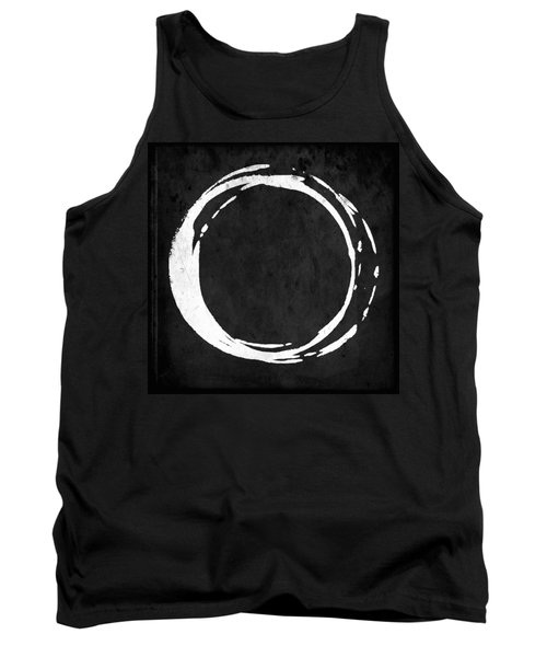Enso No. 107 White On Black Tank Top