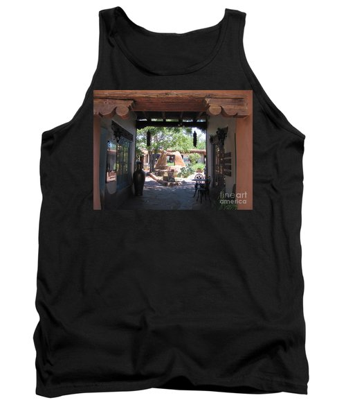 Tank Top featuring the photograph Entrance To Market Place by Dora Sofia Caputo Photographic Art and Design