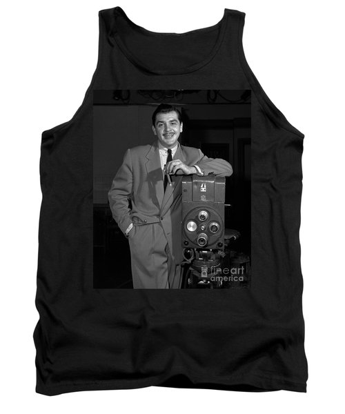 Tank Top featuring the photograph Ernie Kovacs 1957 by Martin Konopacki Restoration