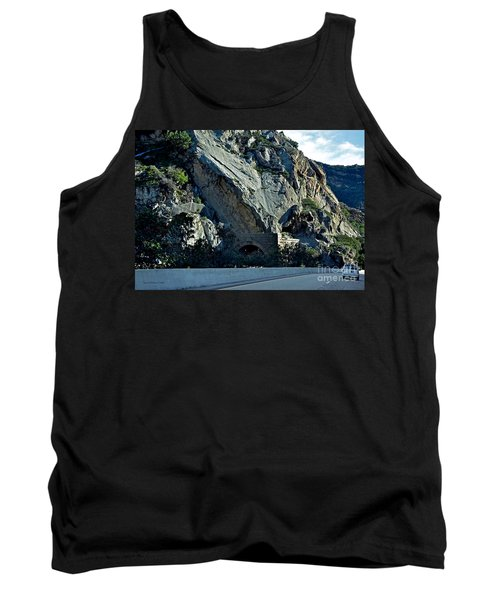 Tank Top featuring the photograph Eroding Hillside And Tunnel by Susan Wiedmann