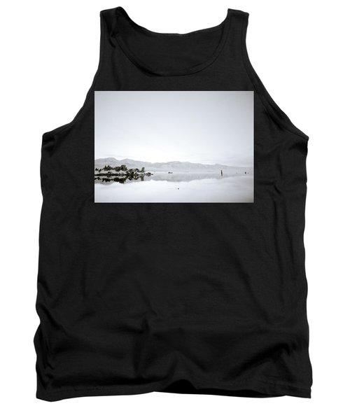 Ethereal Mono Lake Tank Top by Shaun Higson