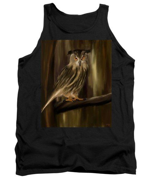 Eurasian Owl Look Tank Top