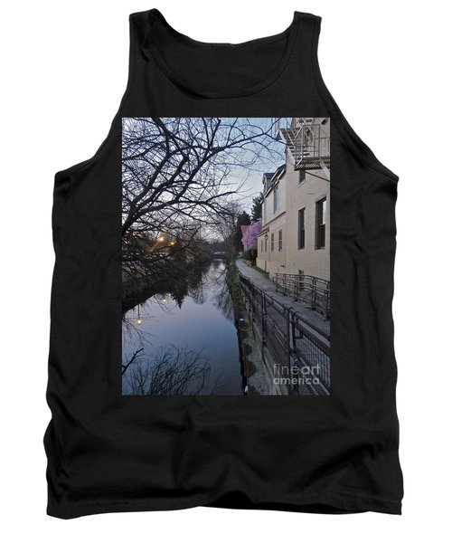 Evening On The Canal Path Tank Top