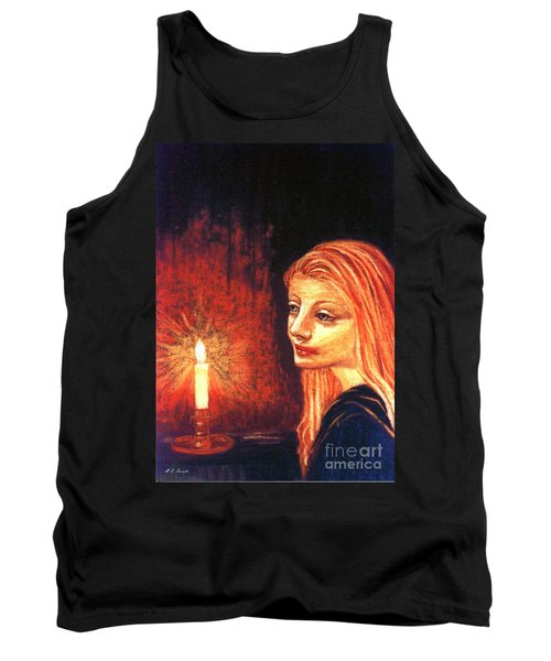 Tank Top featuring the painting Evening Prayer by Jane Small