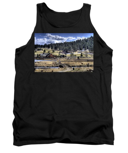 Evergreen Colorado Lakehouse Tank Top