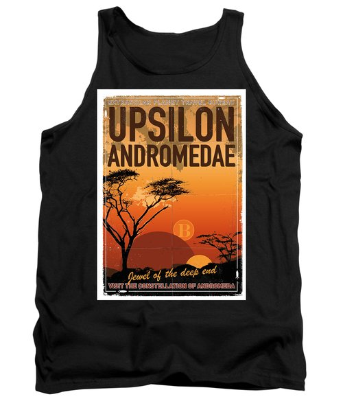 Exoplanet 06 Travel Poster Upsilon Andromedae 4 Tank Top