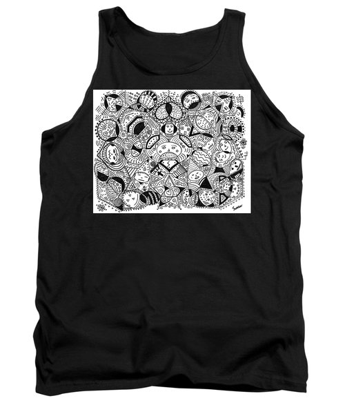 Tank Top featuring the painting Faces In The Crowd by Susie Weber