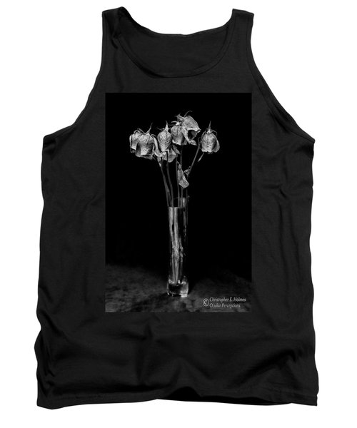 Faded Long Stems - Bw Tank Top