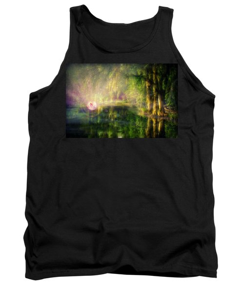 Fairy In Pink Bubble In Serenity Forest Tank Top