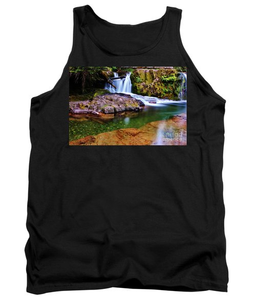Fall Creek Oregon Tank Top by Michael Cross