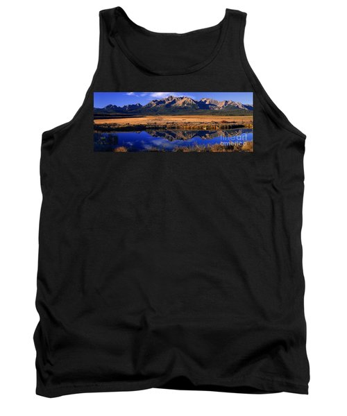 Tank Top featuring the photograph Fall Reflections Sawtooth Mountains Idaho by Dave Welling