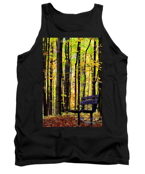 Fall Woods In Michigan Tank Top