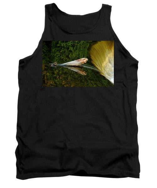 Falling Tree Reflections Tank Top by Debbie Oppermann