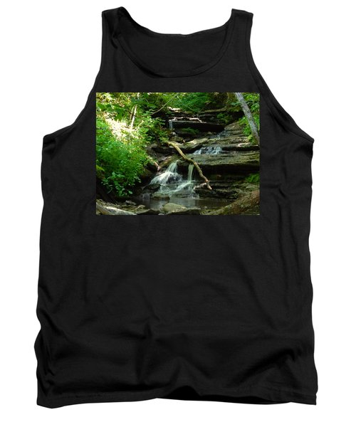 Tank Top featuring the photograph Falling Water by Alan Lakin