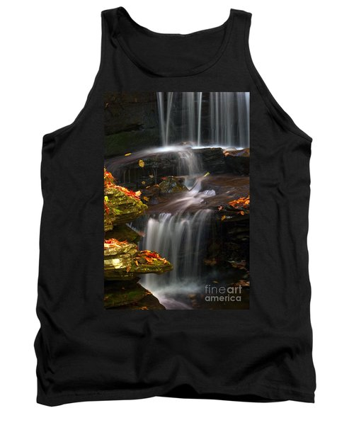 Falls And Fall Leaves Tank Top