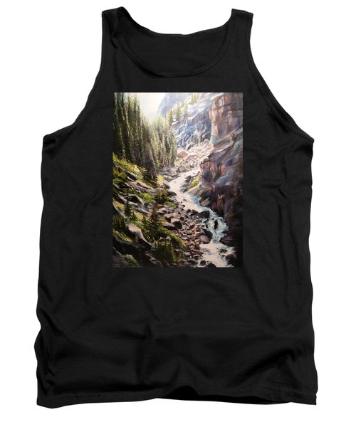 Falls Below Rimrock Lake Tank Top by Patti Gordon