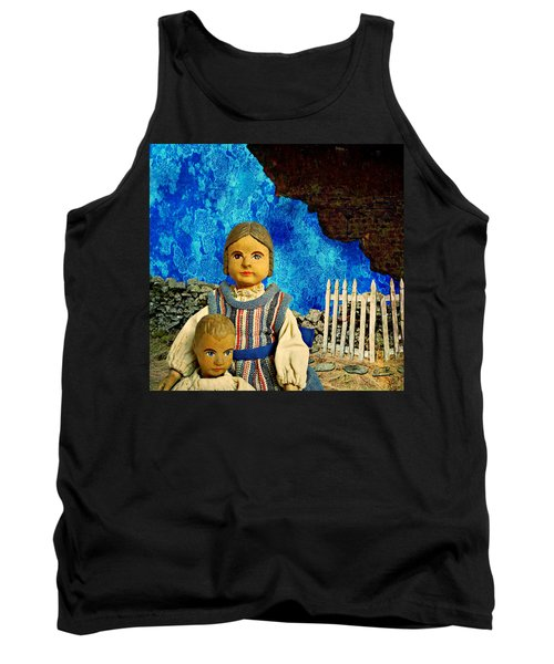 Tank Top featuring the mixed media Family by Ally  White