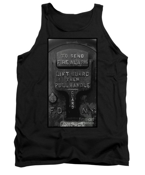 Tank Top featuring the photograph Fdny - Alarm by James Aiken