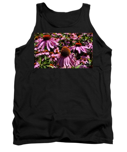 Field Of Echinaceas Tank Top